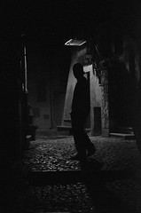 Into deepness (Eduardo Henrique Bertuci) Tags: black white night sihlouette italy fine art street