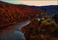 The Tranquil Side Of Deliverance (raymondclarkeimages) Tags: raymondclarkeimages rci usa 8one8studios canon 6d 2470mm28 outdoor landscape water river autumn trees nature scenic tranquil blackborder