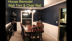 Wall Trim and Chair Rail - Room Remodel (davewirth.blogspot.com) Tags: wall trim chair rail room remodel we did an upgrade our house by remodeling dining for lot money less than 100 put up railing also called shadow boxes crown molding painted everything two colors it gave real formal look us lots more ideas redecorating check out blog details plans do this yourself httpyoutubesfbbpap7sgm