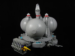 Space Station Centauri - Starboard side drydock (Karf Oohlu) Tags: lego moc spacestation drydock spaceport microscale microspacetopia spaceship balls spire
