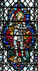 St George with lance and dragon (Powell & Sons, 1954) (Simon_K) Tags: ely cathedral cambridgeshire cambs eastanglia stained glass window saint