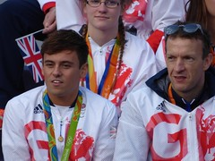 Tom Daley and Richard Whitehead (Suede Bicycle) Tags: olympics rio rioolympics rio2016 olympicgames heroeswelcome trafalgarsquare summerolympics olympicparade paralympics rioparalympics