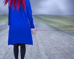 The Red String (Patty Maher) Tags: redstring fate destiny road sky surreal conceptual