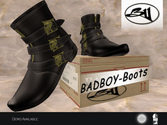 badboy boots gold (Ðσɱ ƁĿΛƇҚ SŢΛR (InSl)) Tags: bw badboy boots men homme male black white cater chaussures timberlan man dom cat tiber land securité shoes timber hombre sapatos gold