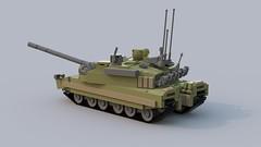 Reflection 4 (main battle tank) (hunyadymarton) Tags: tank lego war reflection 4 army battle main swat armor