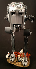 AT-ST front (goatman461) Tags: lego star wars atst jedha empire stormtroopers scout troopers