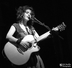 Katie Melua @ Tractor Tavern (Kirk Stauffer) Tags: kirk stauffer photographer nikon adorable amazing attractive awesome beautiful beauty charming cute darling fabulous feminine glamour glamorous goddess gorgeous lovable lovely perfect petite precious pretty siren stunning sweet wonderful young female girl lady woman women live music tour concert show stage gig song sing singer singing vocals perform musician band lights lighting indie pop folk long brown hair brunette curly wavy red lips model tall fashion style portrait photo smiling acoustic guitar black white bw