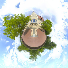 (planet) Ulm, Germany 11 (Andriy Golovnya (redscorp)) Tags: ulm badenwuerttemberg germany oldcity old city architecture panorama little planet littleplanet