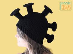 Hawaiian Warrior Mushroom Hat Crochet Pattern (Ira Rott) Tags: hawaiianwarrior mushroom knight irarott crochetpattern antennas hat warrior