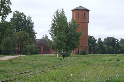 Former water tower of the Biržai narrow-gauge railway station, 10.08.2013.