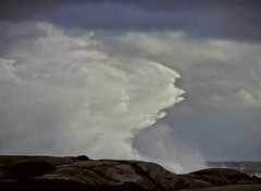 Over the Rocky Shore 2 (photo fiddler) Tags: peggyscove storm wave atlantic breaker october 2016