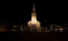 20 (Sergio Eschini) Tags: tromso viaggio travel norvegia normay snow december inverno winter crepuscolo natura landscape citta city luci notte lights night church chiesa