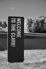The Clark / Signage (Images George Rex) Tags: williamstown ma usa monolith bw sign electronicsign digitalsign theclark sterlingfrancineclarkartinstitute architecture tadaoando photobygeorgerex imagesgeorgerex newengland gensler