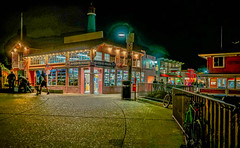Entrance to Fisherman's Wharf--DSC00001--Monterey, CA (Lance & Cromwell back from a Road Trip) Tags: fishermanswharf monterey montereypeninsula montereycounty roadtrip nightphotography nightshots 2016 travel sony sonyalpha a7s