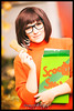 Cosplay Velma from Scooby-Doo (Krueger_Martin) Tags: cosplay costume kostüm scoobydoo velma animaco anime cartoon 135mm festbrennweite primelense bokeh beyoundbokeh herbst autumn fall orange colorful porträt portrait girl woman frau nerd nerdy canoneos5dmarkii canoneos5dmark2 canonef135mmf2l