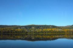 Rflexion Automnale Autumn reflection (~Laurence~) Tags: paysage landscapesdreams landscape eau fleuve automne couleur reflet reflexion canada canon canonflickraward blue bleu