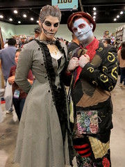 Gender-Swapped Nightmare Before Christmas (Kelson) Tags: cosplay lacomiccon16 nightmarebeforechristmas jackskellington sally comikaze cons comiccon lacomiccon losangelescomiccon lacomiccon2016