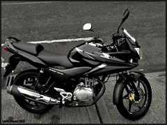 Honda CB125 (larry_shone) Tags: motorcyclesopentoall motorbike urban selectivecolour honda