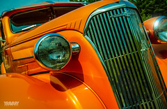 1937 Chevrolet Sedan (yravaryphotoart.com) Tags: canon canoneos7d canonefs1022mmf3445usm yravaryphotoart yravaryphotoartcom 1937 chevolet sedan chevy closeup orange 1937chevroletsedan car auto automobile vehicule vehicle