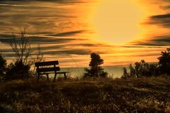 Against the sun (☺dannicamra☺) Tags: nikon d5100 landscape sun bench natur sky sundown sonnenuntergang landschaft himmel sonne bank winter
