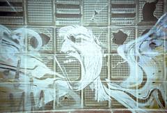 Screamy Windows (Shot In The Street) Tags: streetphotography colour lomography lomo portra lca analogue street bristol filmisnotdead 400 graffiti streetart graf film kodak doubleexposure doubleex dx multiexposure