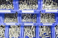 513631286 (acaunttest119) Tags: focusonforeground diminishingperspective plasticcontainer merchandise nopeople rackingup largegroupofobjects storagecompartment electricalcomponent vanishingpoint checklist filingtray exhibition distributionwarehouse rack storageroom bolt nutfastener manufacturing organization order blue plastic steel metal clean neat inarow stack industry constructionindustry business retail selectivefocus indoors horizontal closeup frontview warehouse factory store screw retailequipment equipment boxcontainer container shelf vehiclepart bintub