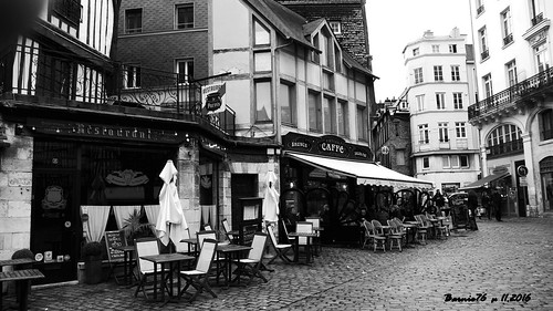 Terrasse café, restaurant , Saint Maclou Rouen