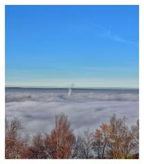 Misty day at Castle Hill (belly.1964) Tags: castle hill huddersfield nikond7200 misty clouds sky sigma1850f28