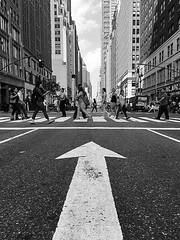 Lady in black (Birdhouse camper) Tags: arrow nyc newyork iphone iphone6s street pov blackandwhite blackwhite
