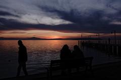Sunset in Passignano ©2016 Nicola Nigri (Lifeinpicture) Tags: sunset silhouette lake trasimeno umbria clouds sky sun mountain landscape people autumn nikond750 d750 nikkor