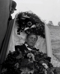 In Repose (Midnight Believer) Tags: coffin casket death corpse graveyard burialground outdoors unknown deceased postmortem