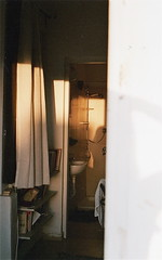 sunset (souge_) Tags: sunset light golden house bauhaus rooftop israel appartment crib bathroom books travel analog film 35mm