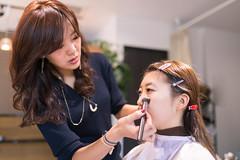 Young Japanese girl making up in beauty salon (Apricot Cafe) Tags: img4727 20s asianethnicity japan japaneseethnicity kimono sigma35mmf14dghsmart tokyo beauty beautysalon ceremony culture enjoy hairsalon happiness peaceful twopeople woman youngadult minatoku tkyto jp