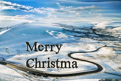 Merry ChristmaS (PentlandPirate of the North) Tags: merrychristmas xmas greetings seasons snow edale mamtor s bend zigzag