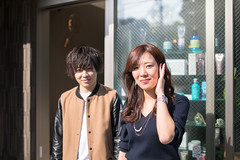 Owner and staff standing in front of hair salon (Apricot Cafe) Tags: img4821 asianethnicity japan japaneseethnicity kimono sigma35mmf14dghsmart tokyo beauty beautysalon ceremony culture enjoy hairsalon happiness peaceful seijinshiki shop twopeople woman youngadult minatoku tkyto jp