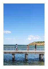 Like A Summer's Holiday . . . (red stilletto) Tags: oceangrove barwonheads barwonriver beach holiday sea wtaer swim bluesky