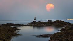 When the Sun Goes Down... (Uillihans Dias) Tags: beach lighthouse scotland sunrise sea seascape