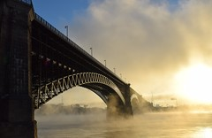 Eads (David Sebben) Tags: eads bridge stlouis mississippi river famous first steel oldest survivor fog