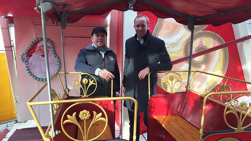 Rundgang über den Lamberti-Markt Oldenburg mit Michael Hempen vom Deutschen Schaustellerverband.