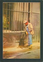 32 christinec (Rocky's Postcards) Tags: postcard christinec urination public peeing street bum drunk
