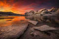 [  arctic sunrise ] (Raym) Tags: nikon d810 lofoten norwegen norway travel fotoreise workshop mountains sunrise winter lucroit filter reise landscape light