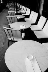 Café de l'esplande (PM Kelly) Tags: paris cafe lesplande street bnw bw blackandwhite blackwhite photography france coffee seat chair reservations view