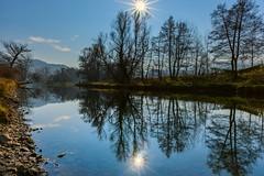 Autumn mirrors (nickneykov) Tags: nikond750 nikon d750 autumn mirrors sun water pancharevo sofia bulgaria landscape