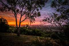 How not to get a sunset shot (dmunro100) Tags: sunset adelaide city hills red light southaustralia summer canon eos 80d cannefs1018mmf4556isstm