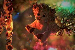 DSC2450-4 (Ripper2860) Tags: sony a6000 alpha6000 ilce6000 vivitar5528automacro fotodiox christmas christmastree cherub angel lights colors ornament bokeh indoor