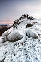 The Ice Queen Returns, North Tor Slieve Bearnagh (Glen Sumner Photography) Tags: stone rock landscape ireland nature tor landscapes hill snow slievebearnagh color mournes northernireland colour isolated evening ice mountain