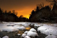 River Sunset - Jock River, Barrhaven, west Ottawa, Ontario, Canada (Explored) (Ottawa Countryside) Tags: sunset river jockriver winter ottawa barrhaven ruralottawa ontario canada