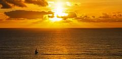 Coucher de soleil rade brest (nolyaphotographies) Tags: crozon roscanvel brest finistere rade mer iroise sea bretagne france nikon d7000 voilier bateau sheap europe nuage wave color dark vent orange