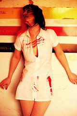 Urbex zombie nurse (TripleS2007) Tags: urbex zombie blood nurse horror hospital abandoned photoshop photoshoot model nocton canon