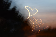 Touch your heart... (Maria Godfrida) Tags: evening night nightlight heart hearts goodnight light 7dwf